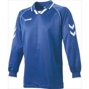 [hummel]ヒュンメル 長袖ゲームシャツ (HAG2006A)(63) ロイヤルブルー×ホワイト[取寄商品]|aspo
