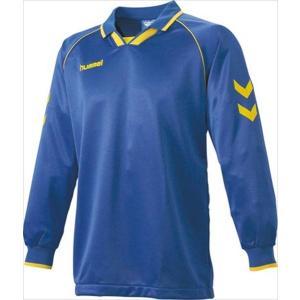 [hummel]ヒュンメル 長袖ゲームシャツ (HAG2006A)(630) ロイヤルブルー×イエロー[取寄商品]|aspo