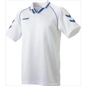 [hummel]ヒュンメル 半袖ゲームシャツ (HAG3006A)(163) ホワイト×ロイヤルブルー[取寄商品]|aspo