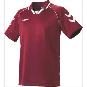 [hummel]ヒュンメル 半袖ゲームシャツ (HAG3006A)(22) ワイン×ホワイト[取寄商品]|aspo