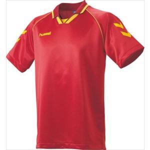 [hummel]ヒュンメル 半袖ゲームシャツ (HAG3006A)(23) レッド×イエロー[取寄商品]|aspo