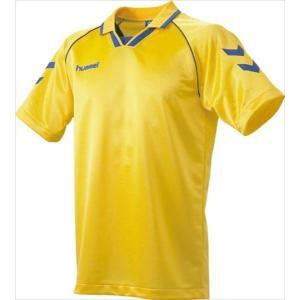 [hummel]ヒュンメル 半袖ゲームシャツ (HAG3006A)(36) イエロー×ロイヤルブルー[取寄商品]|aspo