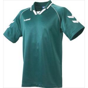 [hummel]ヒュンメル 半袖ゲームシャツ (HAG3006A)(56) Dグリーン×ホワイト[取寄商品]|aspo