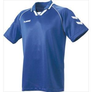 [hummel]ヒュンメル 半袖ゲームシャツ (HAG3006A)(63) ロイヤルブルー×ホワイト[取寄商品]|aspo