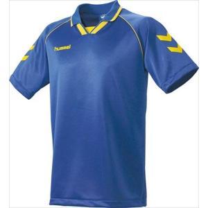 [hummel]ヒュンメル 半袖ゲームシャツ (HAG3006A)(630) ロイヤルブルー×イエロー[取寄商品]|aspo