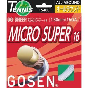 GOSEN[ゴーセン]  OG-SHEEP ミクロスーパー16 (TS400)(10)ホワイト[取寄商品]