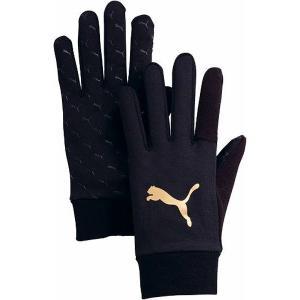[PUMA]プーマ Field Player Glove J (041302)(01)ブラック/チーム ゴールド[取寄商品]|aspo