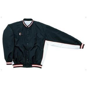 [CONVERSE]コンバースウォームアップジャケット(前ボタン)(CB14112S)(1911)ブラツク/ホワイト[取寄商品]|aspo