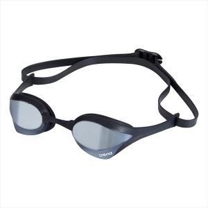 [arena]アリーナ くもり止めスイムグラスクッションタイプ(ミラー加工) (AGL-180M)(SLBB) シルバー×スモーク×ブラック×ブラック[取寄商品]|aspo