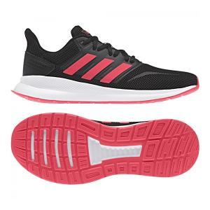 [adidas]アディダス シューズ FALCONRUN レディース ランニング ジョギング (F36270)ブラックショックレッド