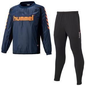 [hummel]ヒュンメル ピステトップ+テックパンツセット (HAW4183SP)(70) ネイビー|aspo