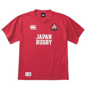 [canterbury]カンタベリー ラグビー日本代表応援Tシャツ JAPAN RED TEE (VCC39117)(65) レッド aspo