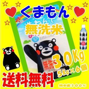 29年産 【】くまもん,の絵、無洗米,30Kg(九州,熊本のお米より)5Kg×6個
