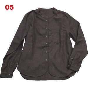 カオ-KAO ヘンリーネックワークシャツ女性用|asses