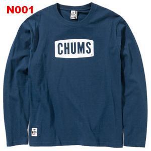 チャムス-CHUMS チャムスロゴロングスリーブTシャツ男性用|asses