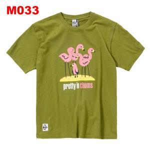 チャムス-CHUMS フラミンゴブービーTシャツ男性用|asses