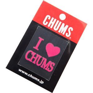 チャムス-CHUMS アイラブチャムスエンボスステッカー|asses