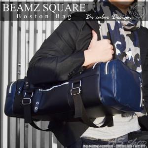 ボストンバッグ メンズ スポーツ BEAMZ SQUARE スクエアスタイル 牛革 ボストンバッグ 小旅行 ゴルフ スポーツバッグ カバン レザー|asshop