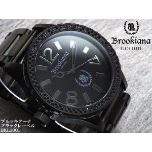 【BROOKIANA BlackLabel】流通限定販売モデルメンズ腕時計 BKL1001-1 ブラックジルコニア オールブラック メンズウォッチ asshop