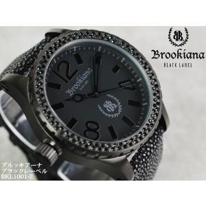 【BROOKIANA BlackLabel】流通限定販売モデルメンズ腕時計 BKL1001-2 ブラックジルコニア オールブラック ガルーシャベルトメンズウォッチ asshop