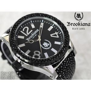 【BROOKIANA BlackLabel】流通限定販売モデルメンズ腕時計 BKL1001-6 ブラックジルコニア ブラック×シルバー ガルーシャベルトメンズウォッチ asshop