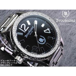 【BROOKIANA BlackLabel】流通限定販売モデルメンズ腕時計 BKL1001-7 オールステンレス ジルコニア ブラック×シルバーメンズウォッチ asshop