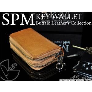キーケース コインケース 小銭入れ キーケース 革 バッファロー ファスナー キーケース SPM 財布 メンズ ミニ 小さい|asshop