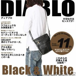 DIABLO ホワイトライン ショルダーバッグ カジュアル カバン メンズ|asshop