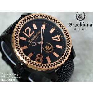 【BROOKIANA BlackLabel】流通限定販売モデルメンズ腕時計 BKL1001-9 ジルコニア ブラック×ピンクゴールド ガルーシャベルトメンズウォッチ asshop