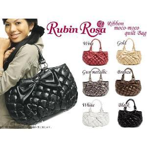 【Rubin Rosa】【ルビンローザ】リボンモコモコキルトバッグ Ray掲載アイテム トートバッグ|asshop