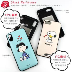 スヌーピー iphoneケース ミラー付き 背面 カード収納付き ピーナッツ キャラクター スマホケース 耐衝撃 薄型 iPhone11Pro iPhoneXS iPhone8 7 韓国 asshop 05