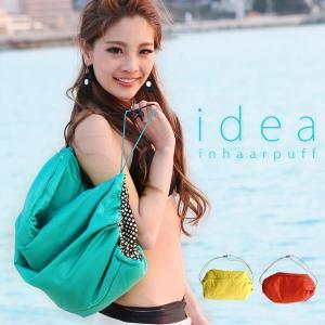 スポーツジムやビーチ、プールに最適な巾着型バッグです。 両面に撥水加工が施されているので軽い雨や水を...