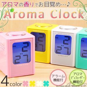 アロマクロック デジタル 置き時計 アロマディフューザー 電池 目覚まし時計|asshop