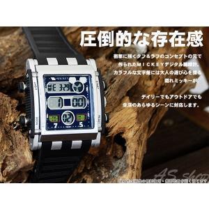 Disney 腕時計 ミッキー スクエアタイプ デジタルウォッチ ホワイトラバーベルト ディズニー キャラクター デジタル腕時計 キッズ|asshop|02