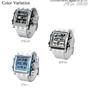 Disney 腕時計 ミッキー スクエアタイプ デジタルウォッチ ホワイトラバーベルト ディズニー キャラクター デジタル腕時計 キッズ|asshop|05