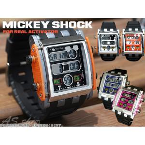 Disney 腕時計 ミッキー スクエアタイプ デジタルウォッチ ディズニー キャラクター デジタル腕時計 キッズ|asshop