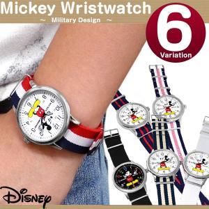 ミッキー 腕時計 Disney ミッキーマウス ミリタリー 腕時計 NATOタイプ ディズニー キャラクター ディズニー カジュアル|asshop