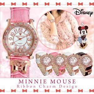 ディズニー 腕時計 レディース Disney ミニーマウス リボンチャーム ウォッチ|asshop