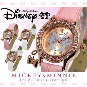 ディズニー 腕時計 レディース Disneyミッキー & ミニー ラブキッス ウォッチ|asshop