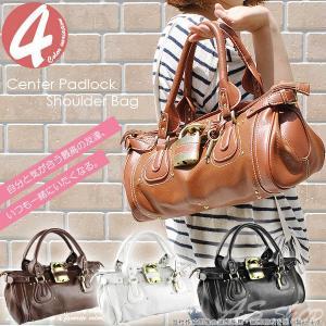 センターパドロック ショルダーバッグ 大人気南京錠デザインがアクセントについたかわいい大容量鞄 レディースバッグ/カバン |asshop