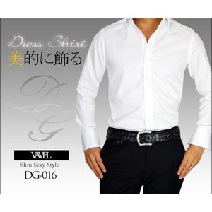 BARTOLO VAVEL ワイシャツ 長袖 ボタンダウン メンズ スリム ドレスシャツ ホワイト ドゥエボットーニ スキッパー|asshop