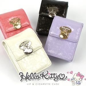 キティ 化粧ポーチ キャラクター Hello Kitty エナメル調素材 リップケース レディース シガレットケース タバコ入れ|asshop
