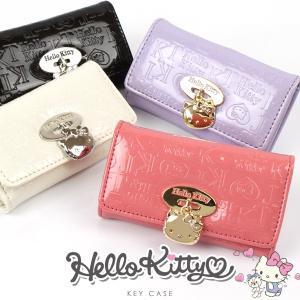 キティ キーケース レディース Hello Kitty エナメル調素材 5連 キーケース かわいい キーホルダー|asshop