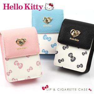 キティ 化粧ポーチ Hello Kitty リボン柄 リップケース レディース かわいい シガレットケース タバコ入れ|asshop