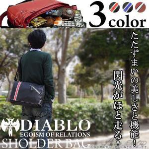 DIABLO シングルライン ショルダーバッグ カジュアルバッグ カバン|asshop