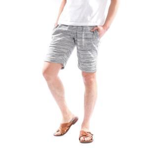 ショートパンツ メンズ ハーフパンツ メール便送料無料 膝上 短め 杢柄 無地 ハーフ イージー スウェットパンツ 部屋着|assistant