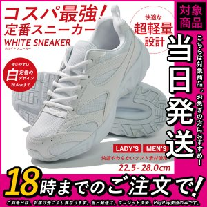 スニーカー 白 シューズ 靴 軽量 レディース メンズ キッズ 通学靴 運動靴の画像