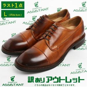 [1点限りアウトレット] [箱なし] カジュアルシューズ 本革 靴 シューズ L 約26.5cm|assistant