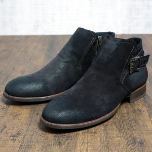 [1点限りアウトレット] [箱なし] 本革ブーツ メンズ ジッパー ダークブラウン 42 約26.5cm assistant