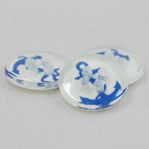 プラスチックボタン  (青・イカリ) 11.5mm 5個入 ANCHOR1-53 (シャツ・ブラウス向) ボタン 手芸 通販|assure-2
